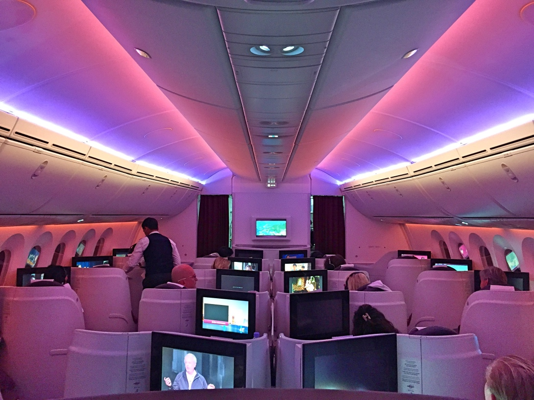 Qatar airways dreamliner business class from doha to stockholm stopboris Image collections