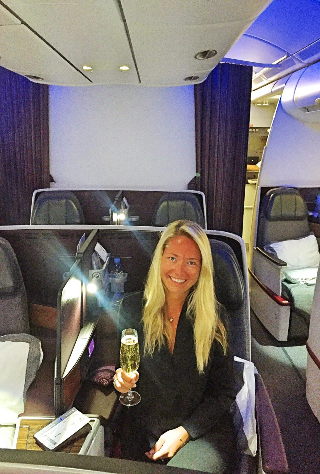 Business Class med Qatar Airways