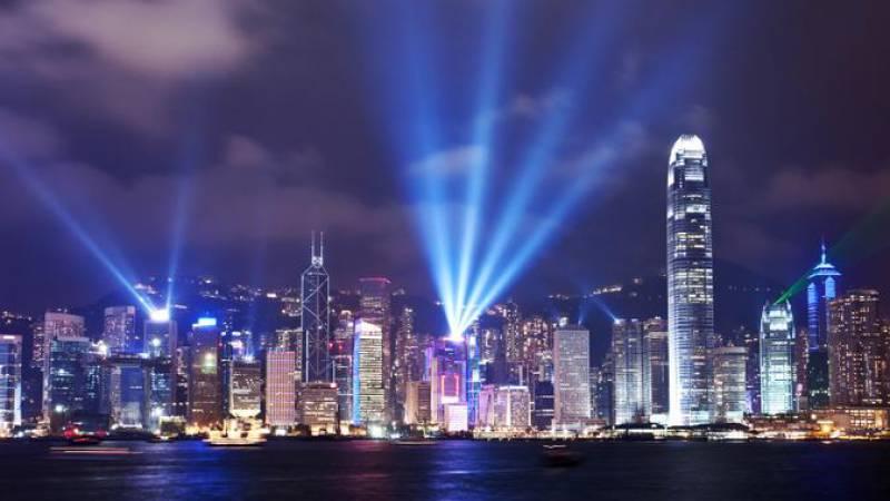 Hong Kong lightshow