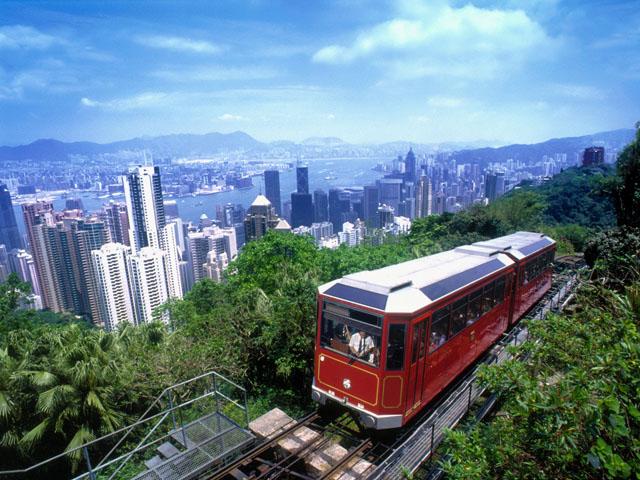 Tram till Victorias peak