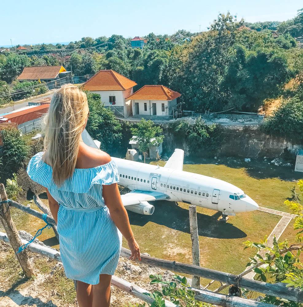 Flygplan på Bali
