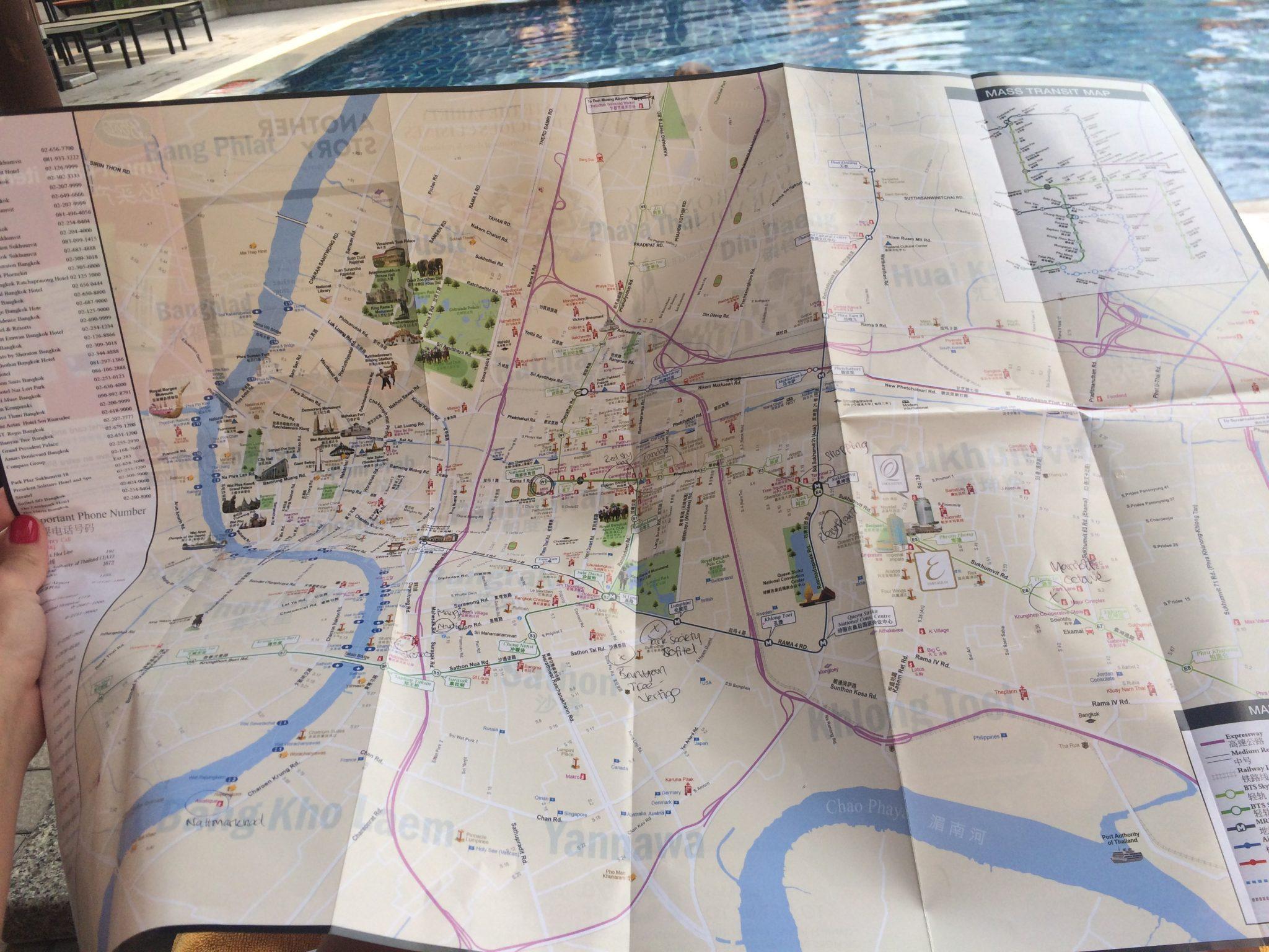 Karta i Bangkok