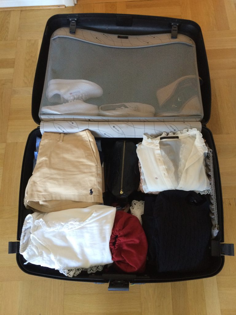 my bags packed for a long weekend