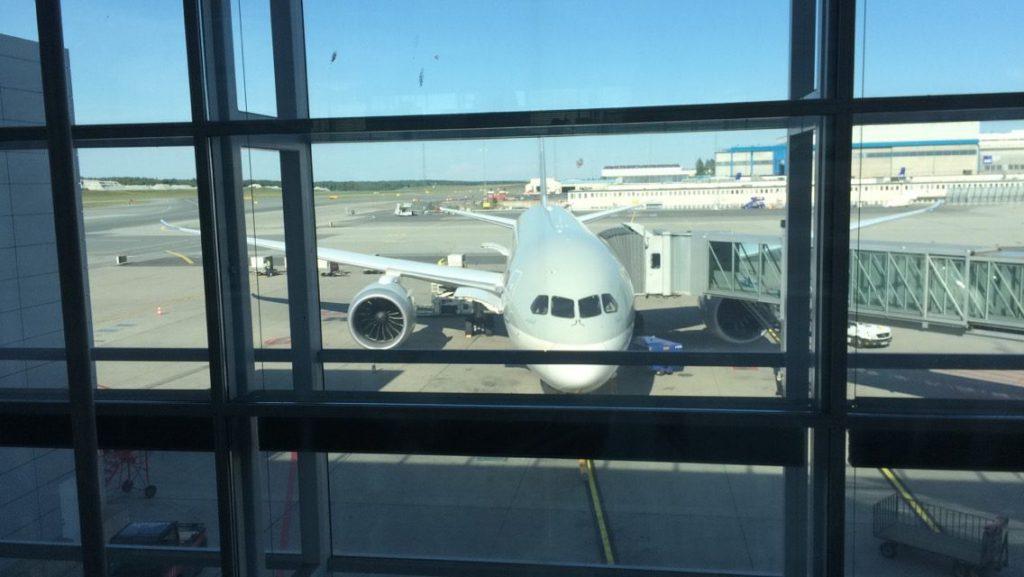 qatar airways dreamliner 787 parked at Arlanda
