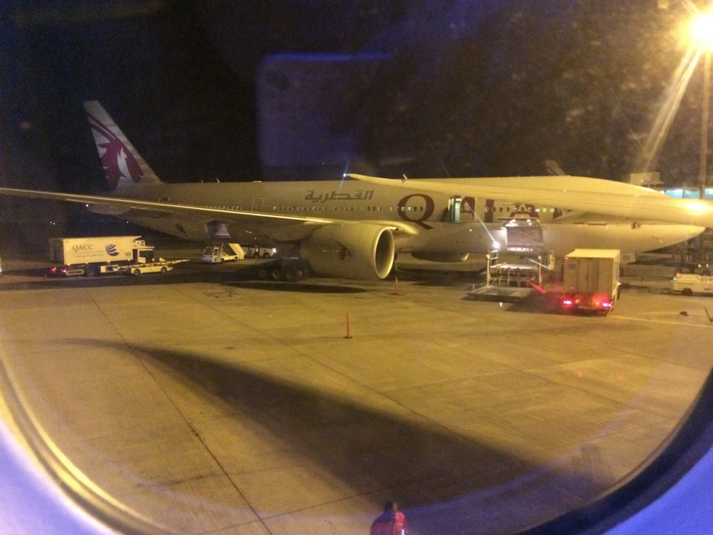 airplane of Qatar airlines