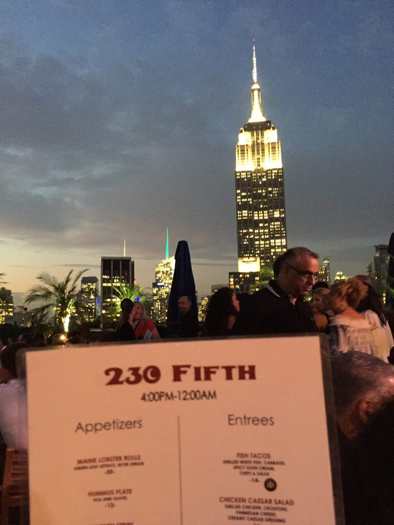 new york rooftop bar on 230 fifth