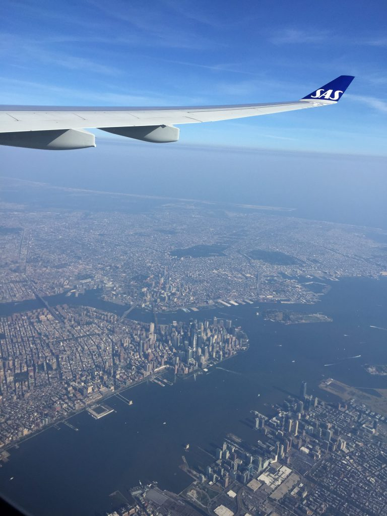 a picture New York city from before landing