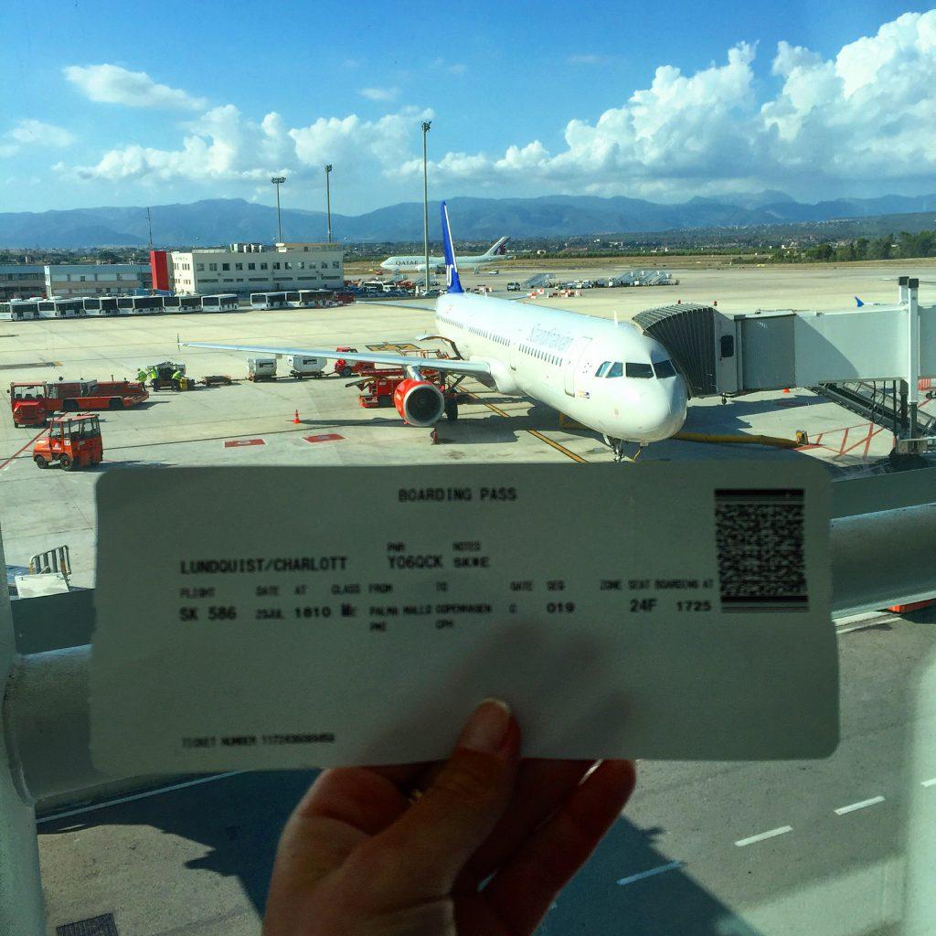 my boarding pass from mallorca to copenhagen