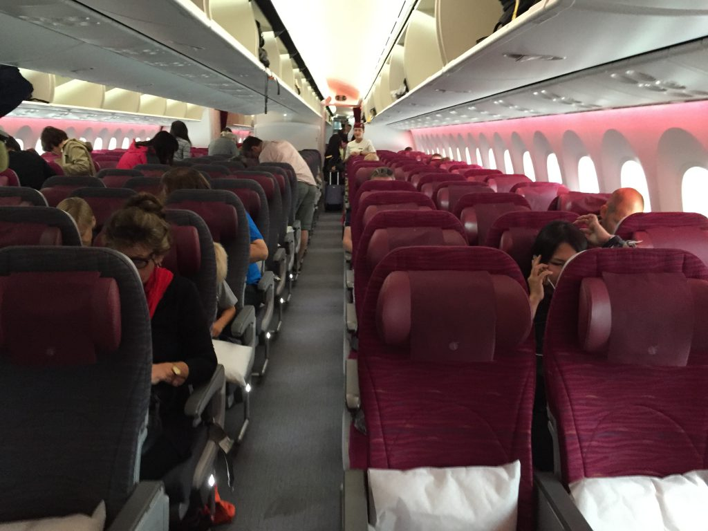 the seating in Qatar airlines