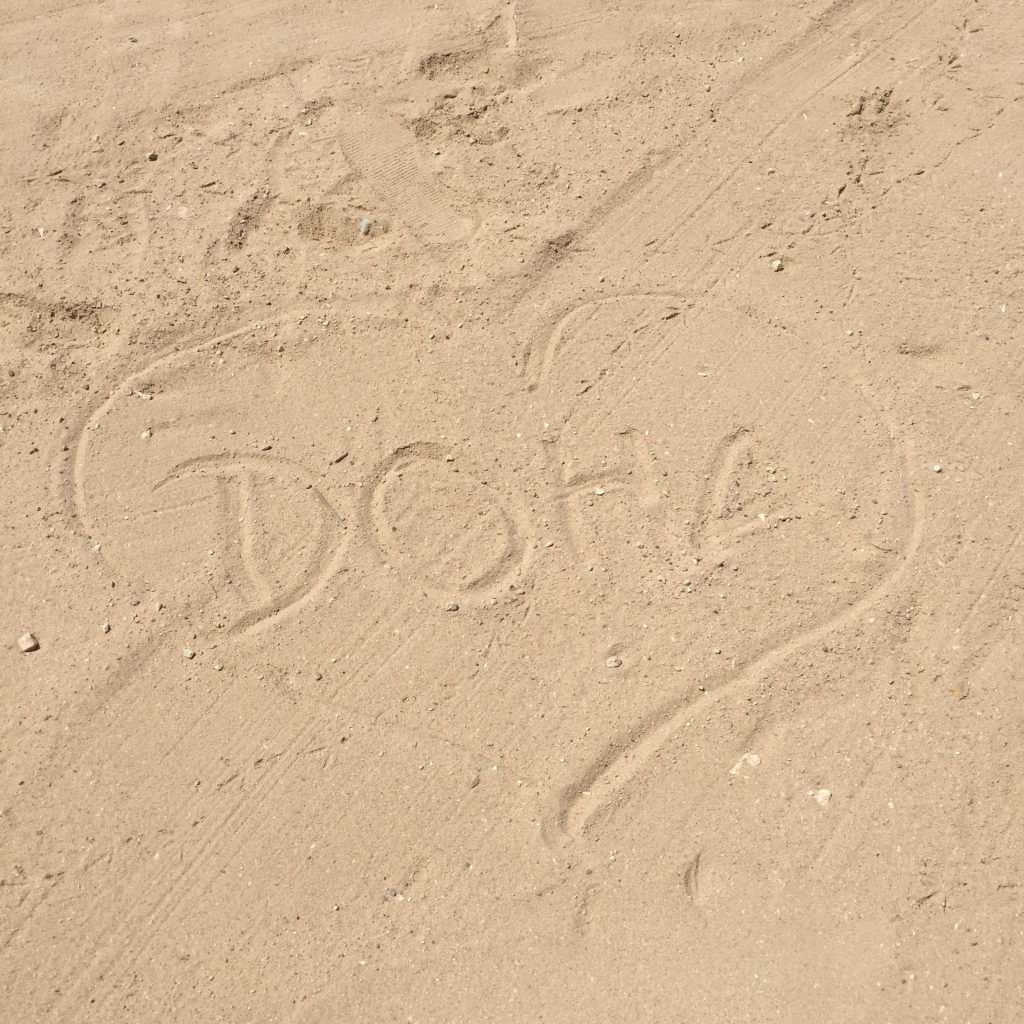 sand writing by me