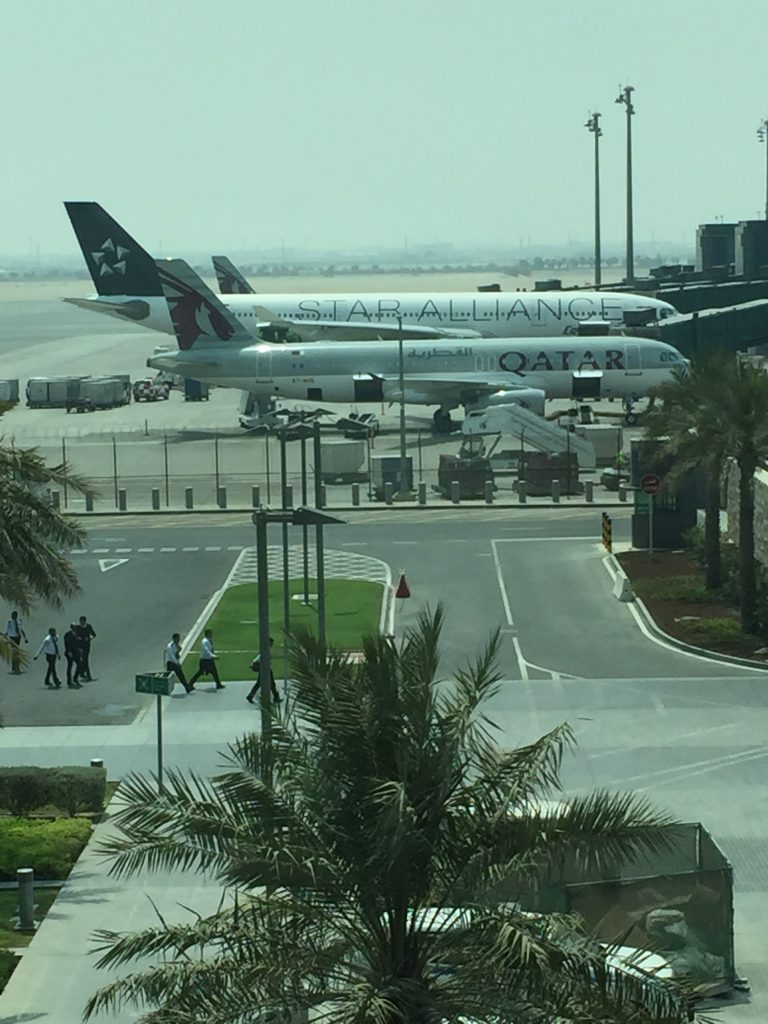 Qatar Airways parked at hamad