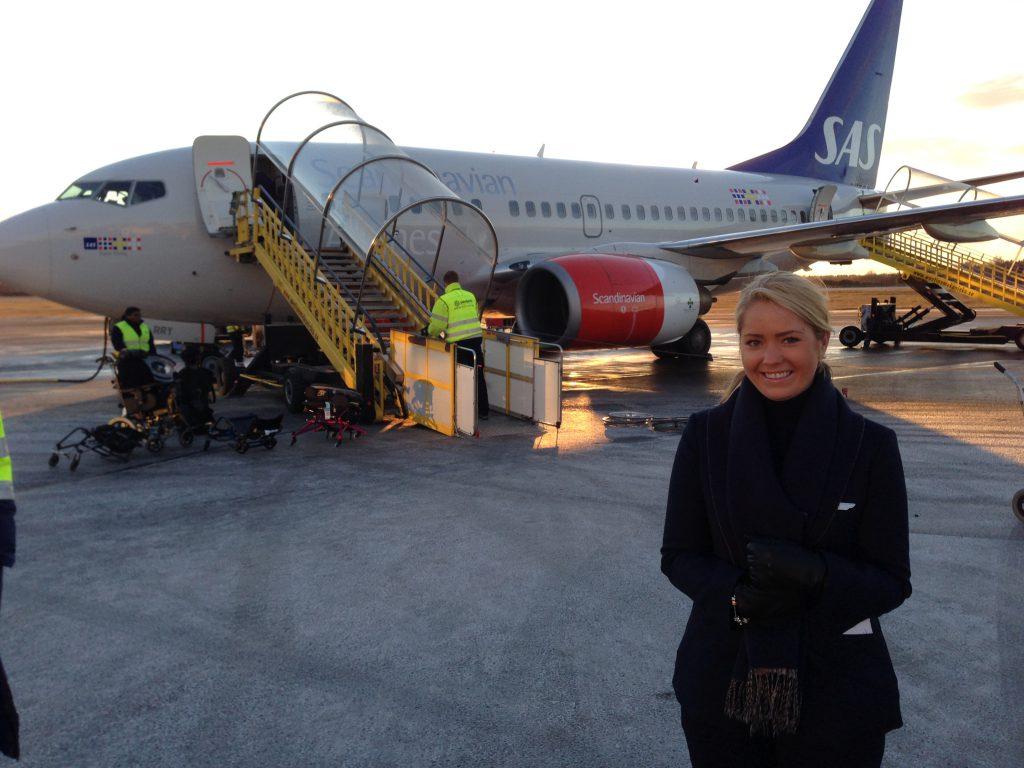 me outside an SAS airplane