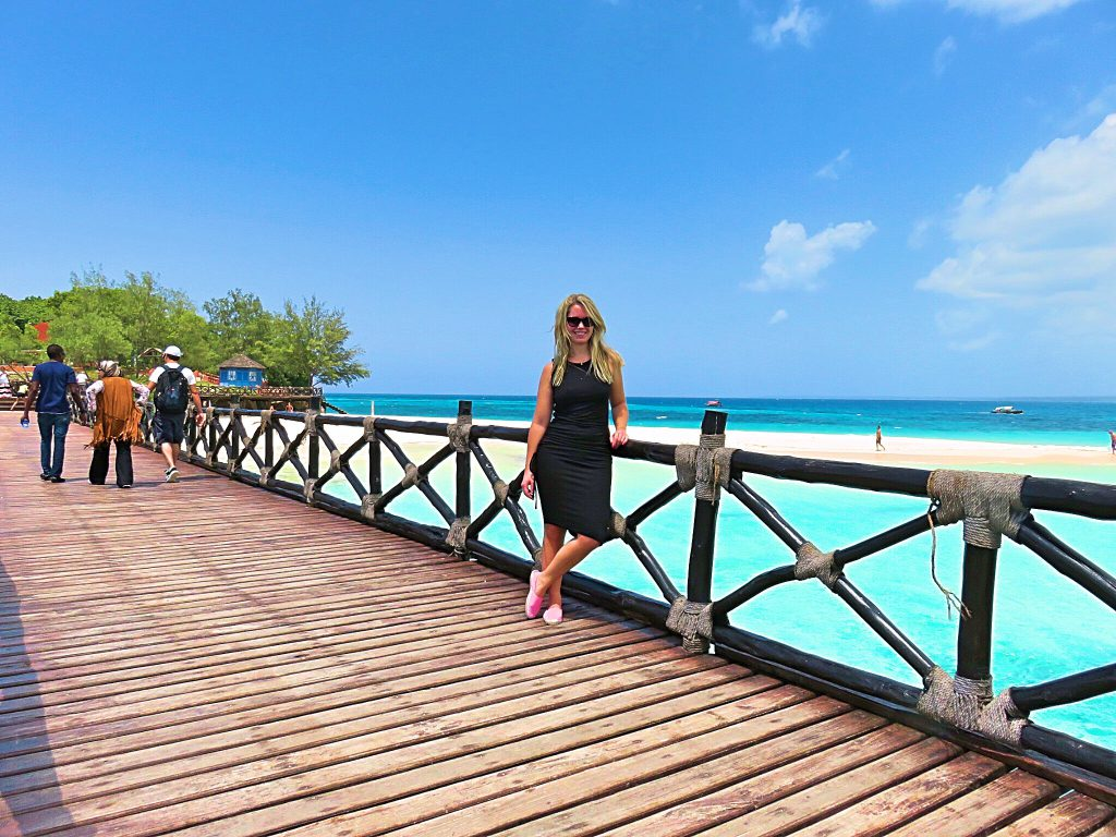a picture of me on the walkway to the island