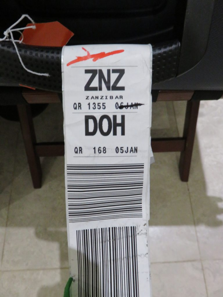 a picture of my luggage tag
