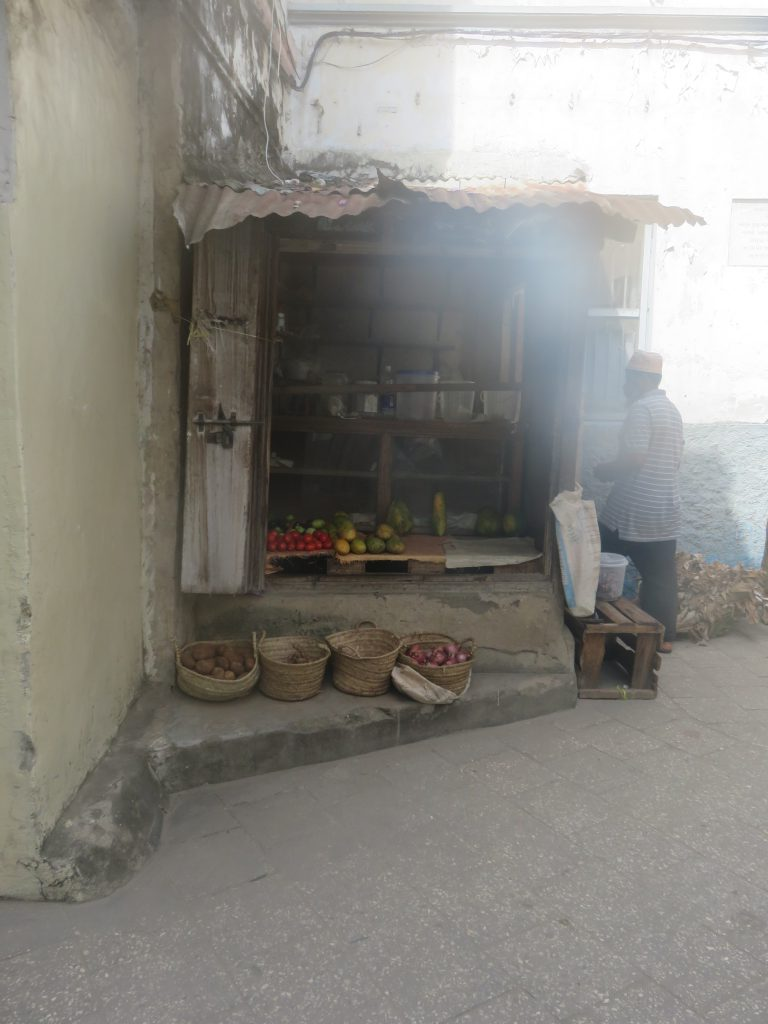 a small vegetable shop