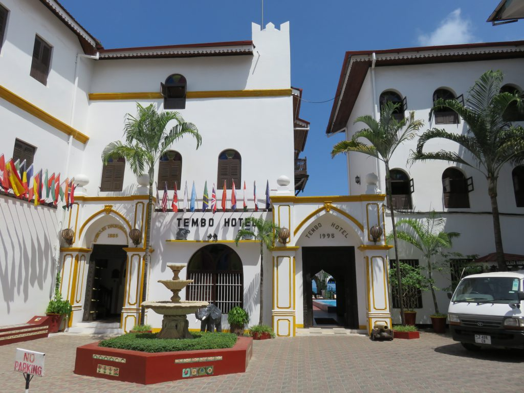 a picture of the entrance to Tembo hotel