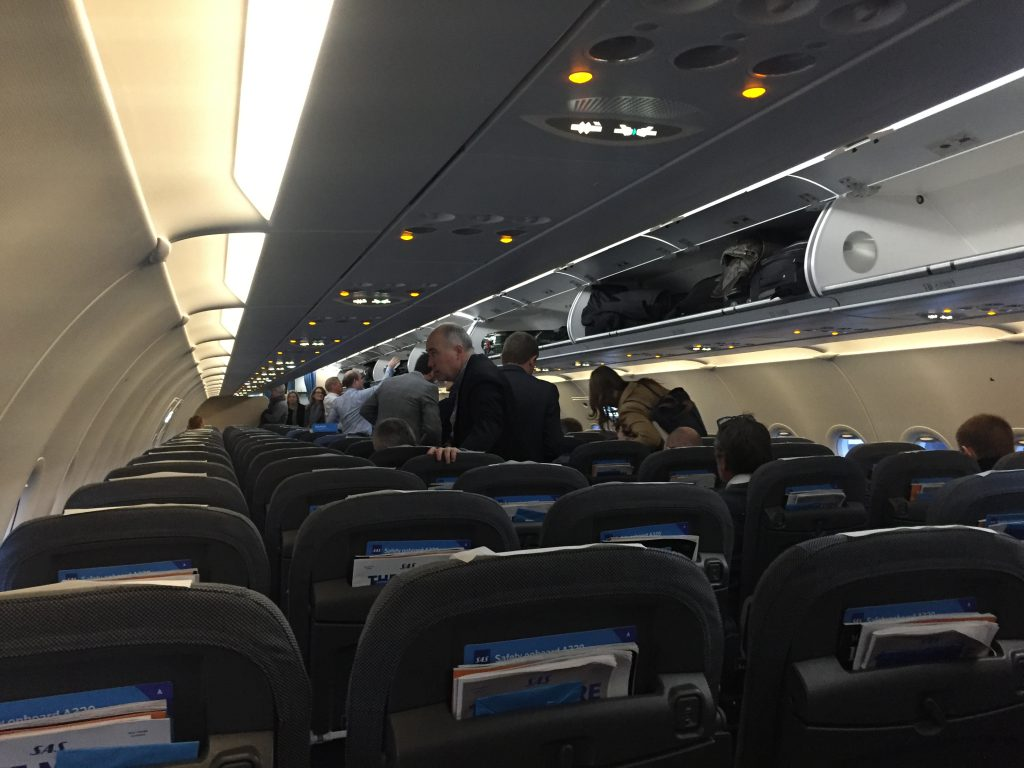 a picture of passengers being seated