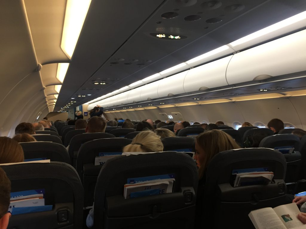 a picture of the interior after boarding is completed
