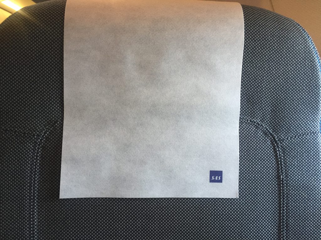 a picture of the head rest of my seat