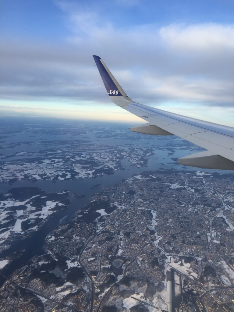 a picture of Copenhagen city before landing