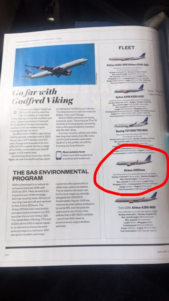 a picture of the Airbus 320 Neo in the magazine