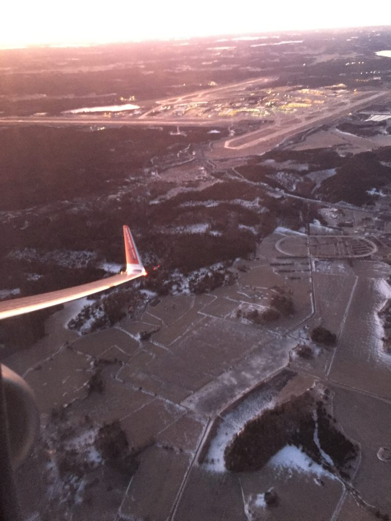 a picture from the window after take off