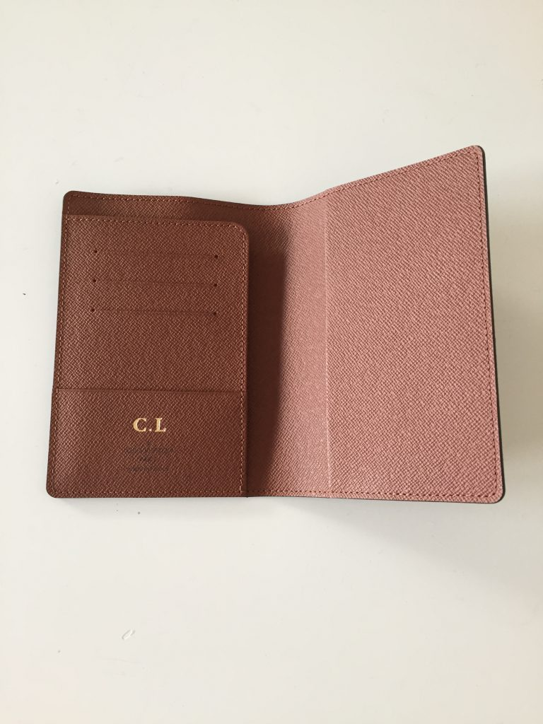 a picture of the interior of the passport cover