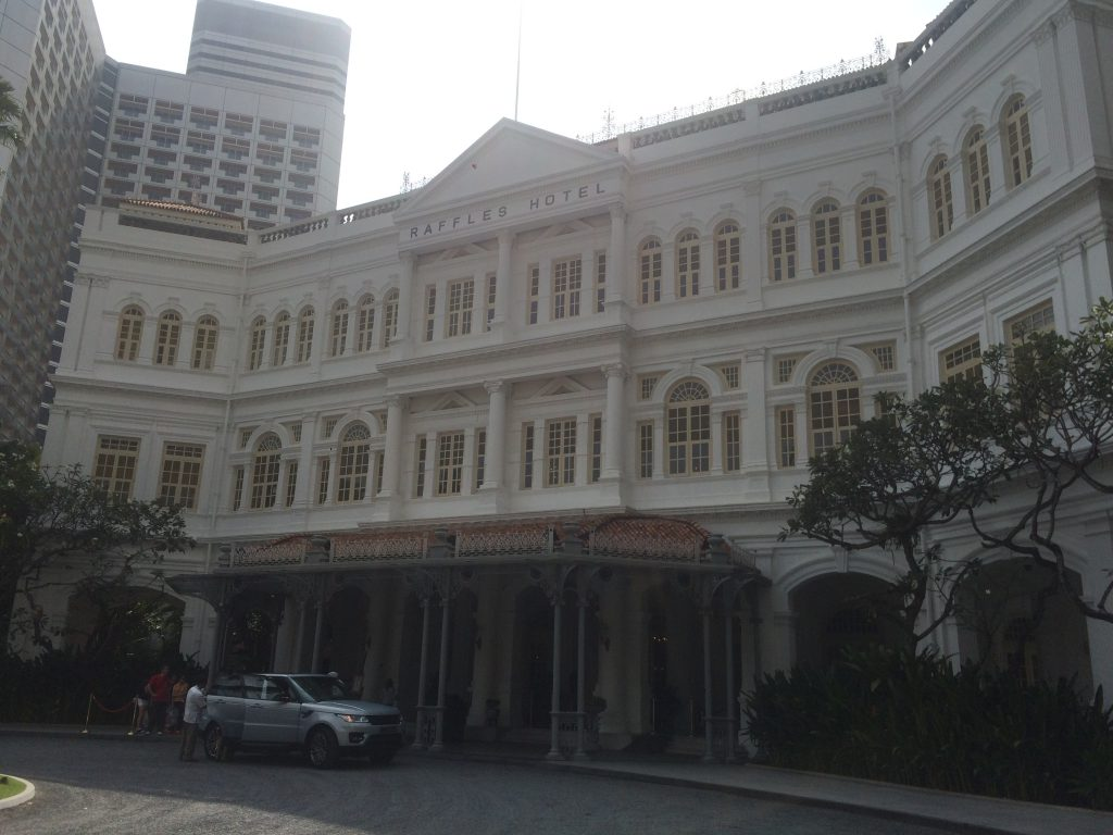 a picture of the raffles hotel