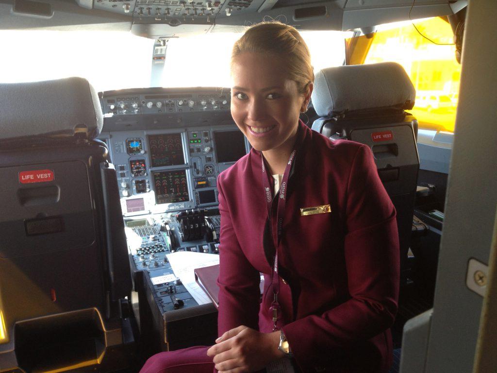 Flight attendant Qatar Airways