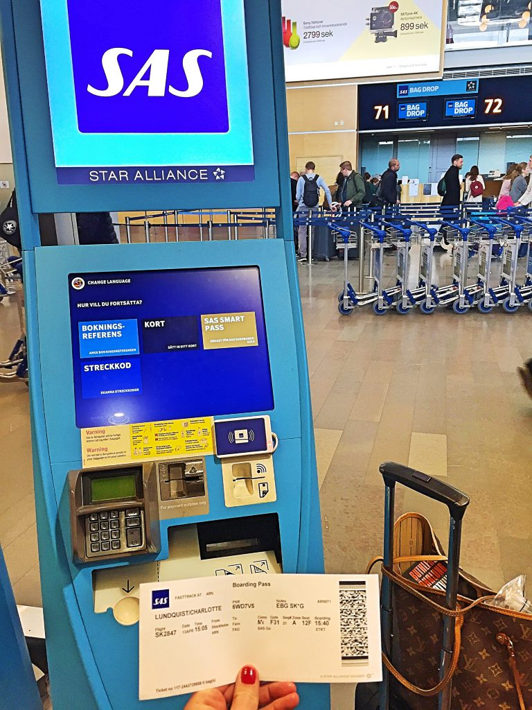 a picture of my boarding pass from the self check in kiosk
