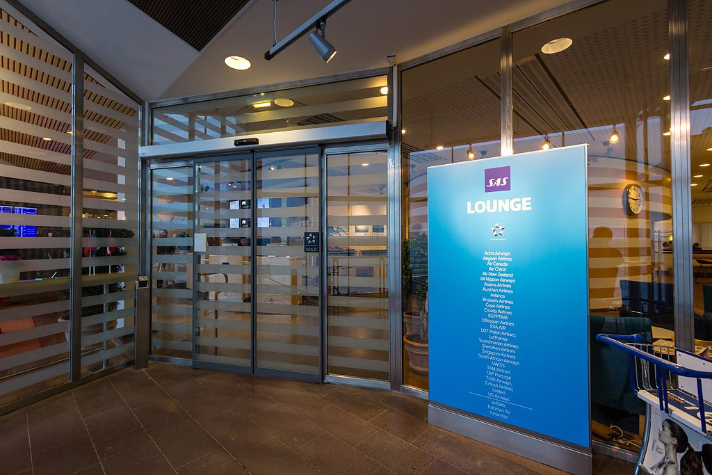 a picture of the entrance to the SAS lounge