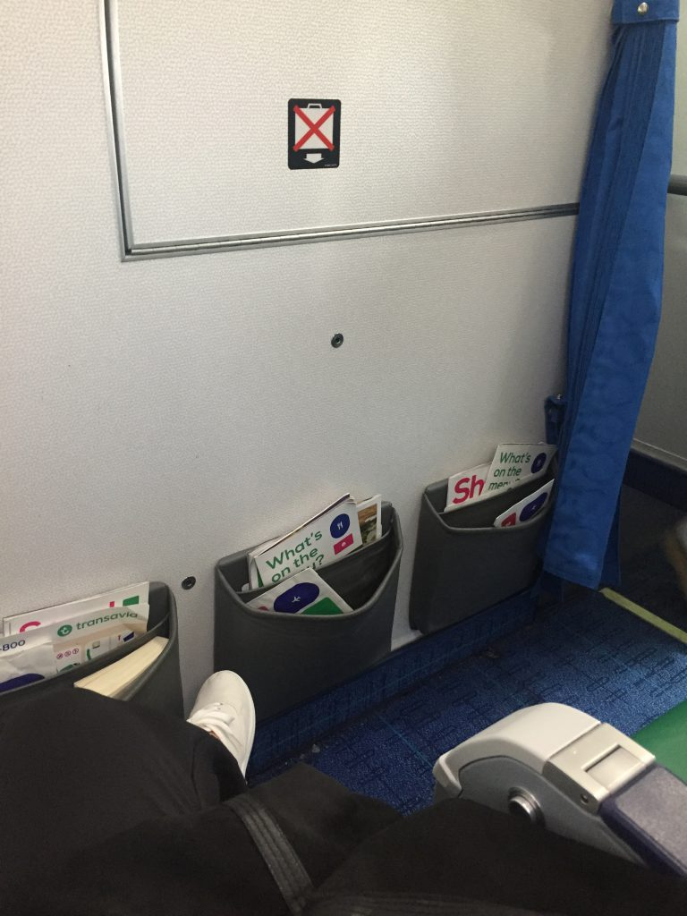 a picture of the leg room on my seat