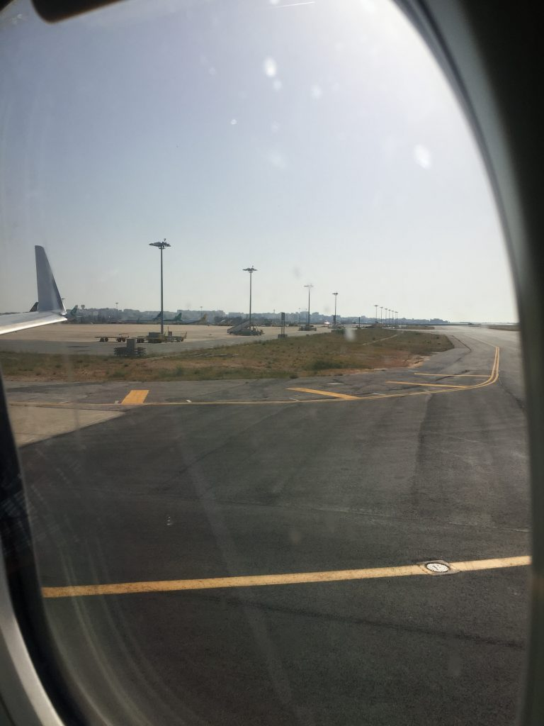 a picture of the tarmac during taxi