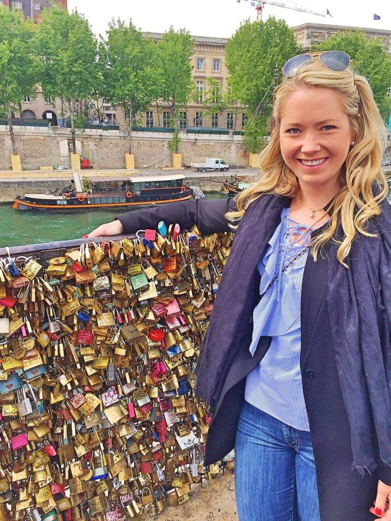 a picture of me with the Padlock on the bridges