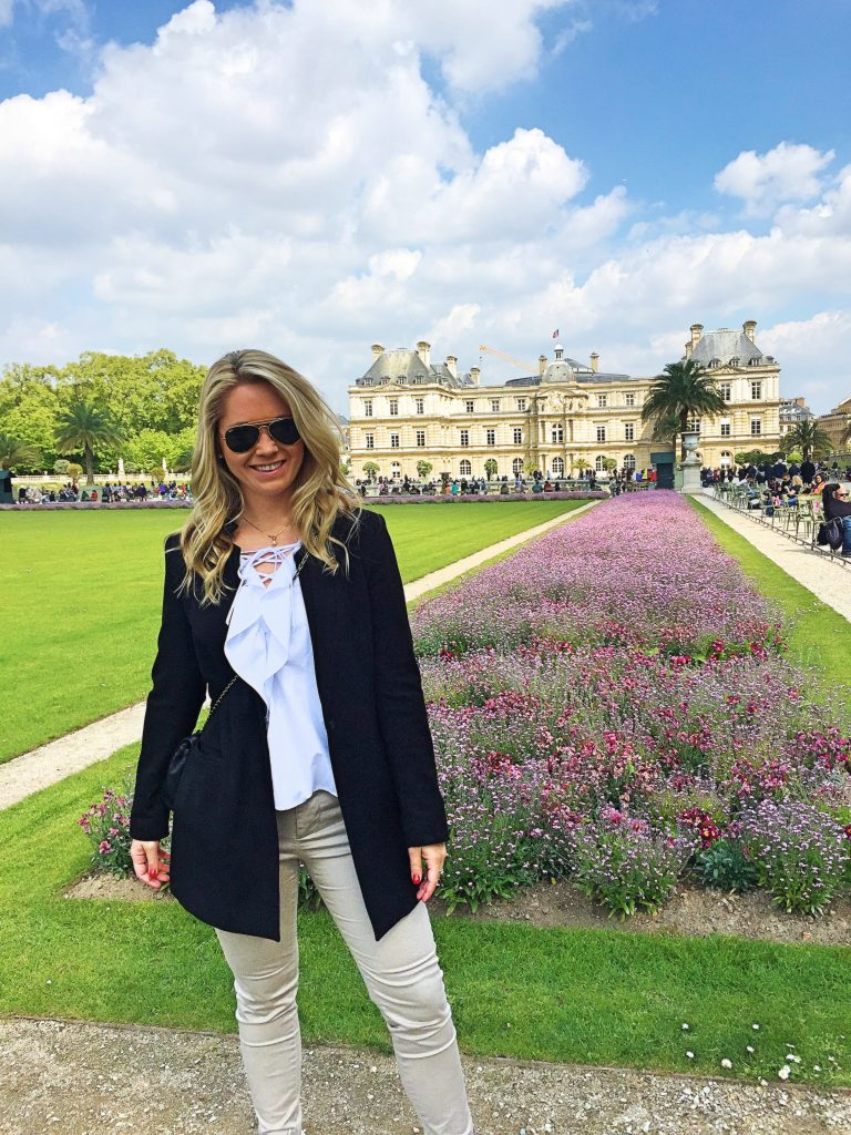 a picture of me standing in the Jardin du Luxembourg garden