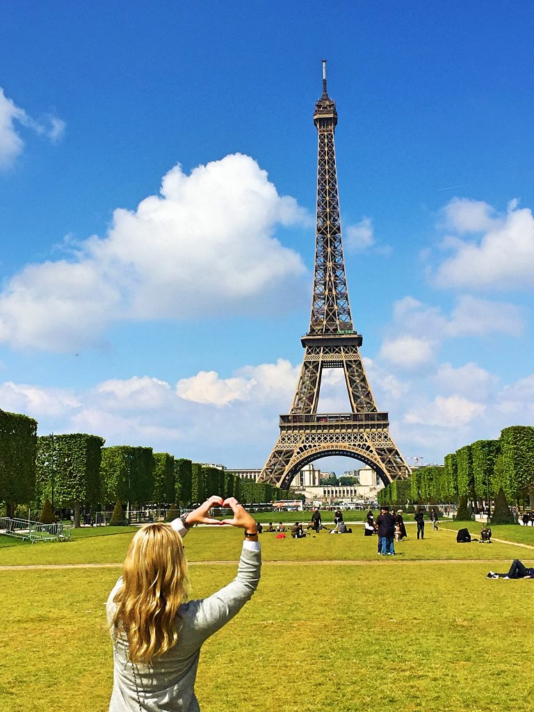 a picture of me at the Eiffel tower