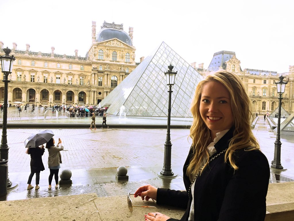 another picture of me outside the Louvre museum