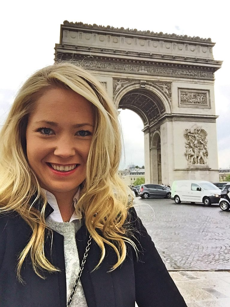 another selfie outside the Arch de Triomphe