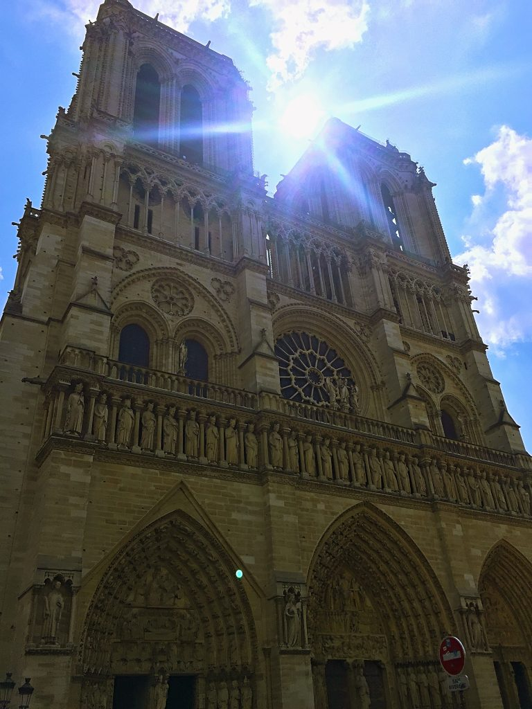 a picture of Notre Dame in the day