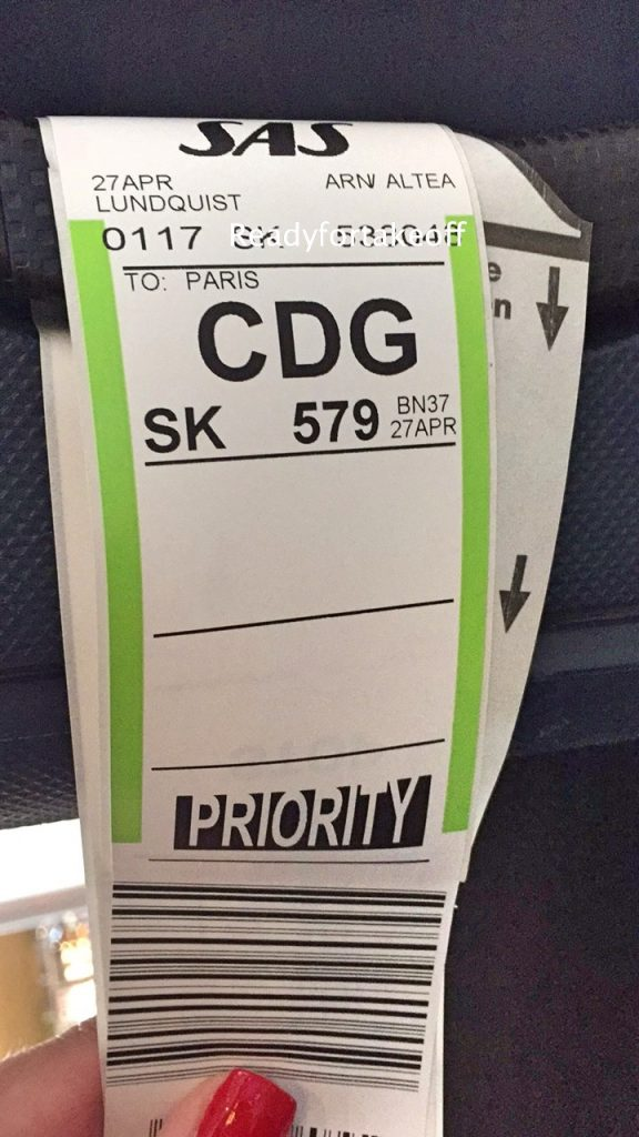 a picture of my luggage tags