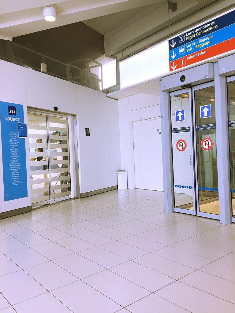 a picture of the entrance to SAS lounge