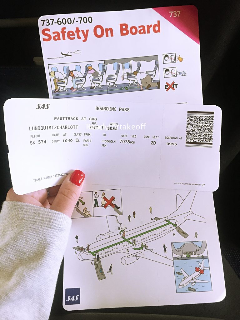a picture of my boarding pass on my return flight