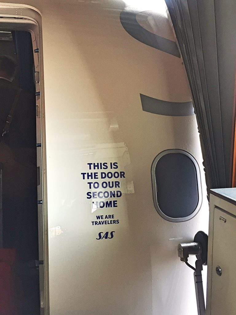 a picture of the door of my airplane