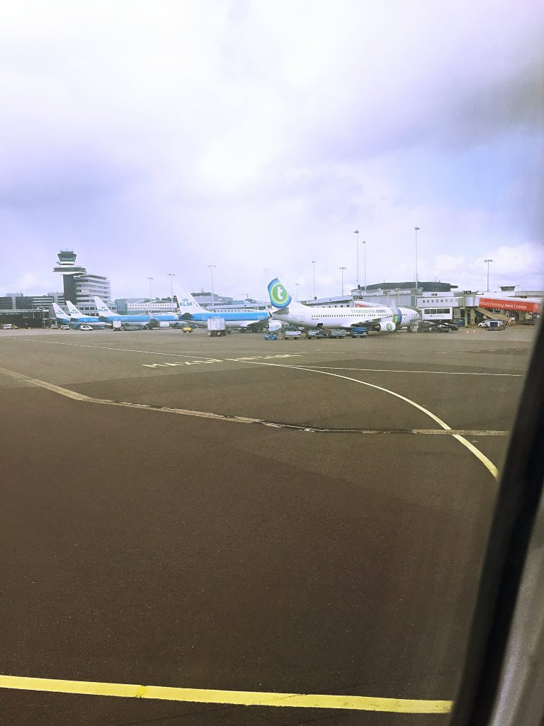 a picture of airplanes parked at arlanda airport