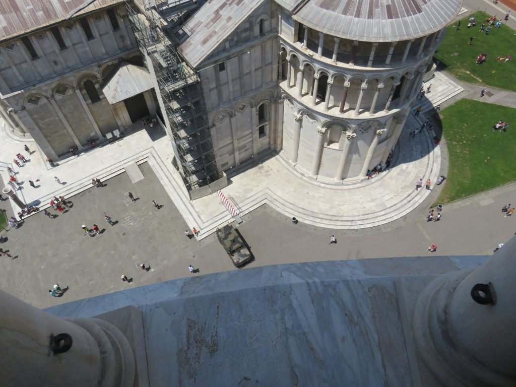 a picture of the square below the tower