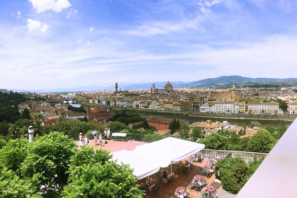 A picture of a panoramic view of the city