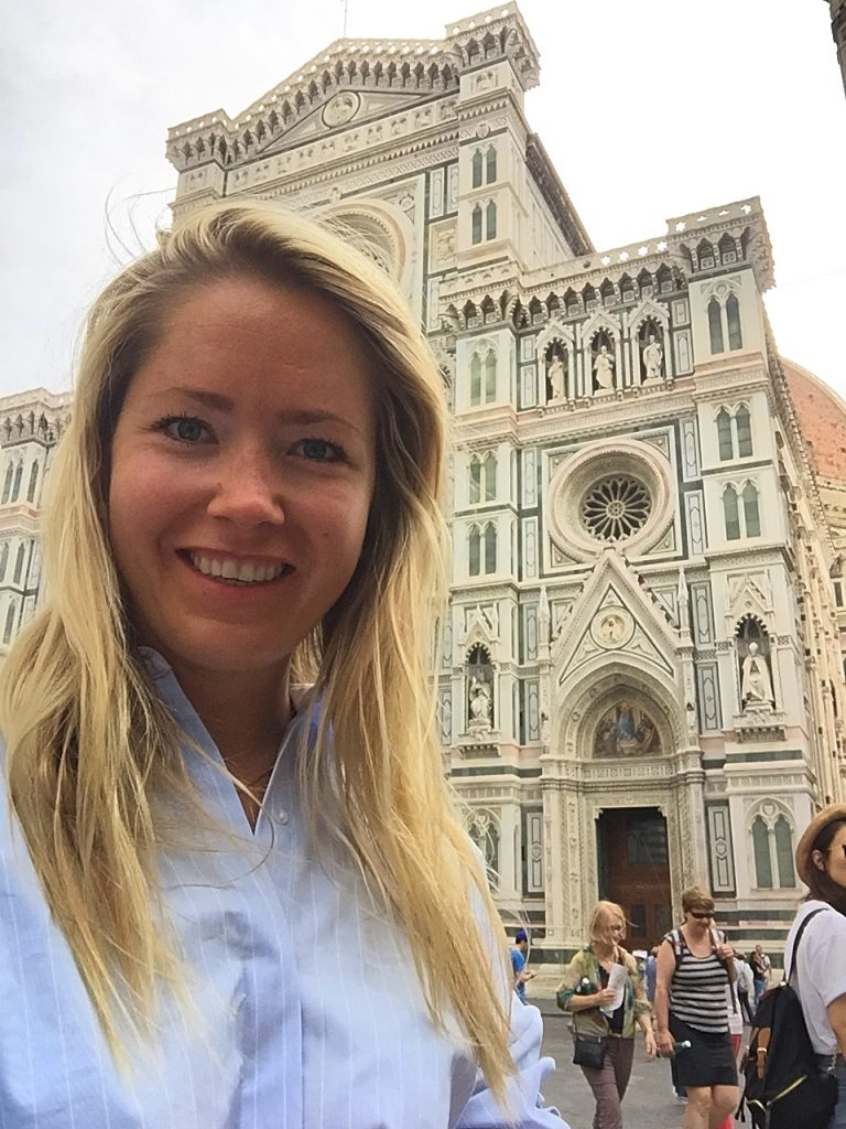 A picture of me at the front entrance of Cattedrale di S.Maria del Fiore