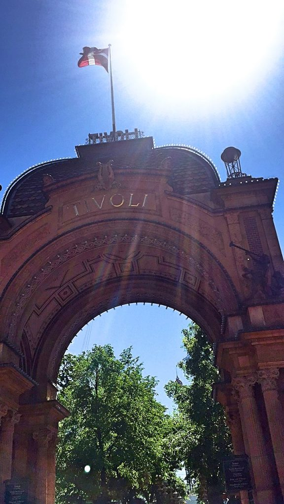 A picture of the entrance arch of Tivoli gardens