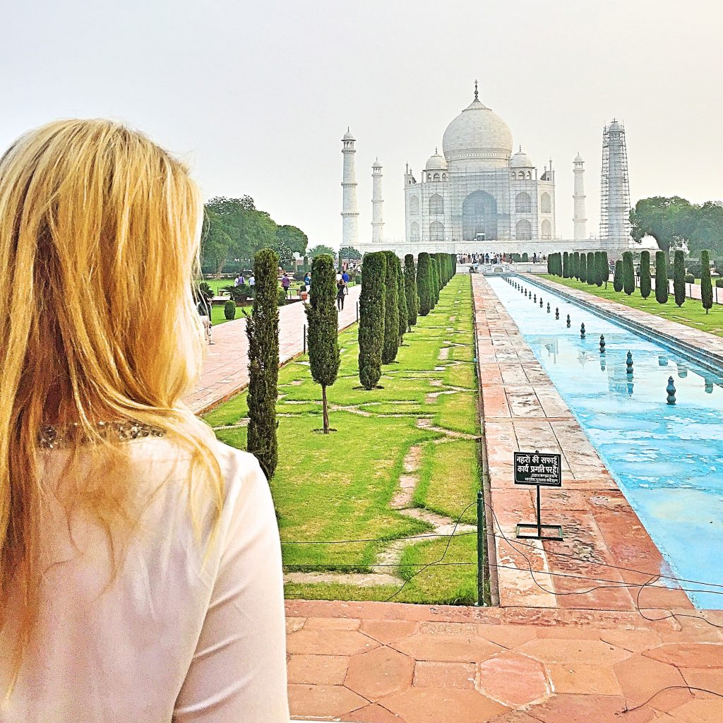 A picture of me at the Taj mahal in India
