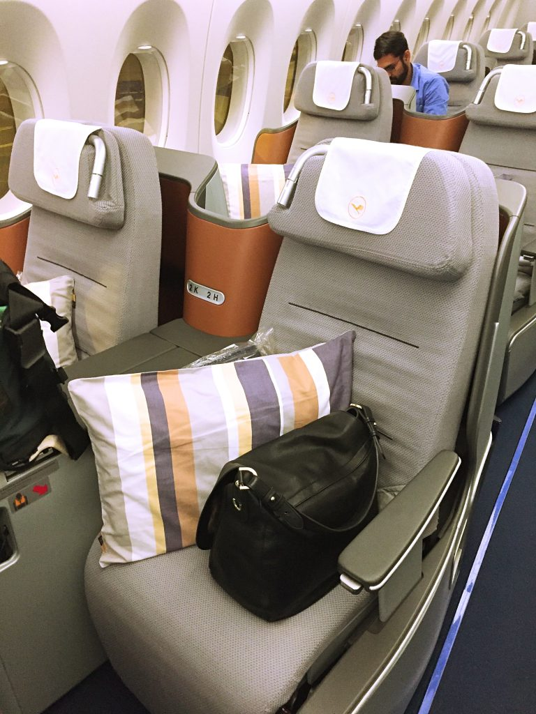 A picture of my bag on my seat